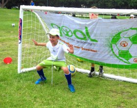 Kids soccer goal keeping, goal keeping training
