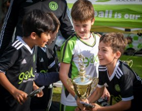 5 a side trophy, five a side soccer