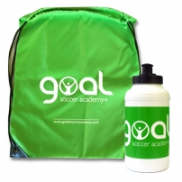 Soccer bag and water bottle